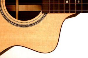 cutaway en una guitarra acústica