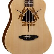 Luna Guitars SAF DF NAT KIT-02 Safari Dragonfly 3/4 Travel Size Acoustic Guitar with ChromaCast