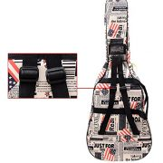 SPJ: American Flag Pattern Acoustic Guitar Gig Case Waterproof Shockproof Dual Shoulder Strap Bag 41 Inches