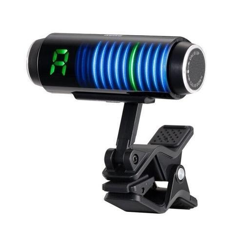 Clip-on guitar tuner with 3D screen