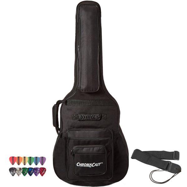 ChromaCast Acoustic Guitar 6-Pocket Padded Gig Bag