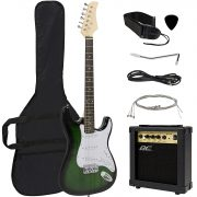 Full Size Green Electric Guitar with Amp