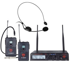 Nady U-2100 Dual Combo HM-GT 200-Channel UHF Wireless Headset Microphon