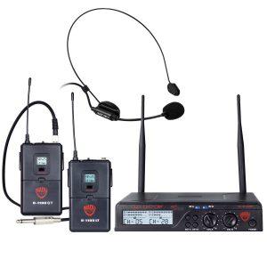 Nady U-2100 Dual Combo HM-GT 200-Channel UHF Wireless Headset Microphon
