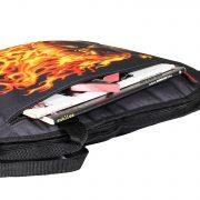 Phitz Electric Guitar Case, Flaming Skull 1