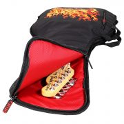 Phitz Electric Guitar Case, Flaming Skull 2