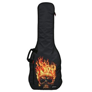 Phitz Electric Guitar Case, Flaming Skull