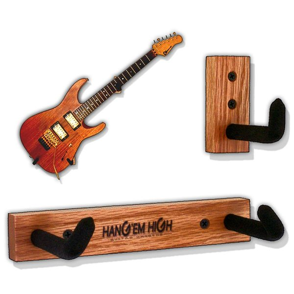 Wall Hanger Display for Electric and Thin Body Guitars