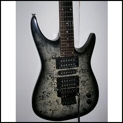 Foto guitarra eléctrica de cuerpo sólido.