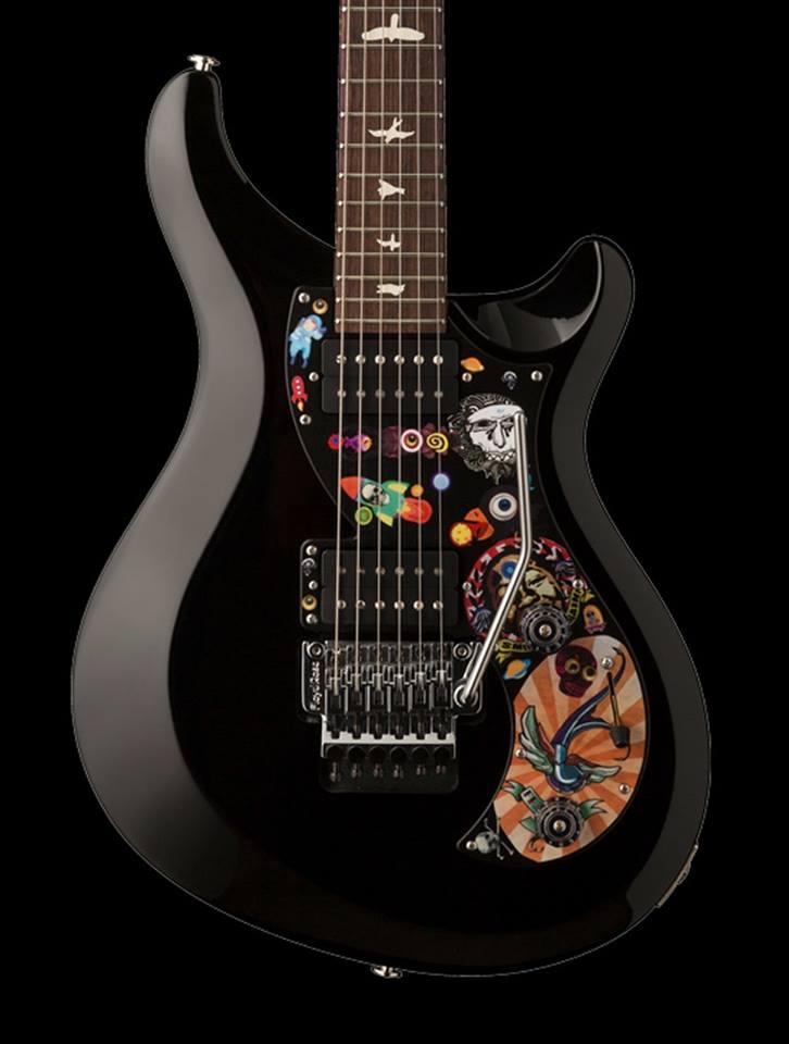 guitarra electrica PRS negra