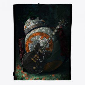 BB-8 guitar blanket