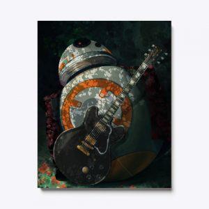 Cuadro BB-8 guitarra