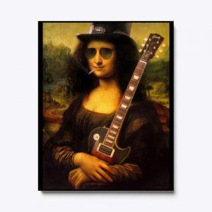 Cuadro Mona Lisa guitarra