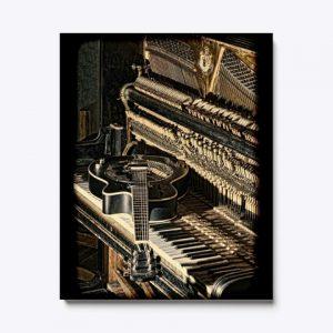 Cuadro piano guitarra
