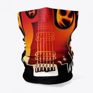 Cubre cuellos guitarra en llamas 1