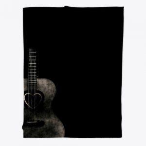 Manta guitarra negra