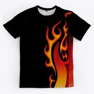 guitarra en llamas full print 1